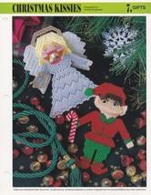 Christmas Kissies, Annie's Plastic Canvas Pattern PLCX423-03 Squeezums S... - $2.95