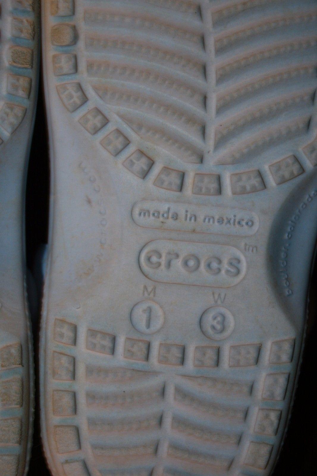 f074f0e369d5b Crocs Kids Light Blue Sz 1 3 Slip On Sandals Clogs Mules Summer Shoes