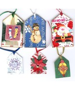 Handmade Handcrafted Christmas Gift Hang Tags Santa Snowman Stockings - $5.00
