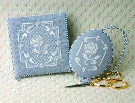 White Rose Needlebook & Fob Teenie Tweenie cross stitch chart Sweetheart Tree - $9.90