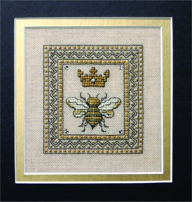 Primary image for Queen Bee cross stitch chart w/embellishments The Bee Cottage
