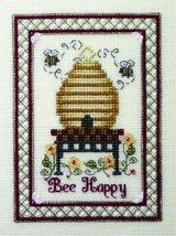 Bee Happy cross stitch chart w/embellishemnts T... - $9.90