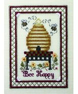 Bee Happy cross stitch chart w/embellishemnts The Bee Cottage  - $9.90
