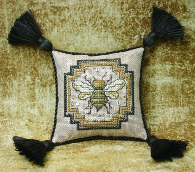 Primary image for Bee Pincushion cross stitch chart w/embellishemnts The Bee Cottage