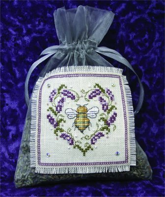 Primary image for Lavender Bee Sachet cross stitch kit The Bee Cottage