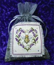 Lavender Bee Sachet cross stitch kit The Bee Cottage  - $29.70