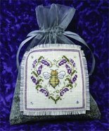 Lavender Bee Sachet cross stitch kit The Bee Cottage  - $29.70