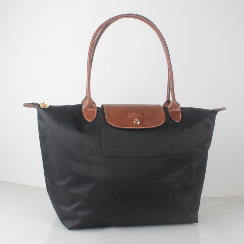 france made longchamp le pliage large nylon tote bag black 1899089001 authentic handbag. Black Bedroom Furniture Sets. Home Design Ideas