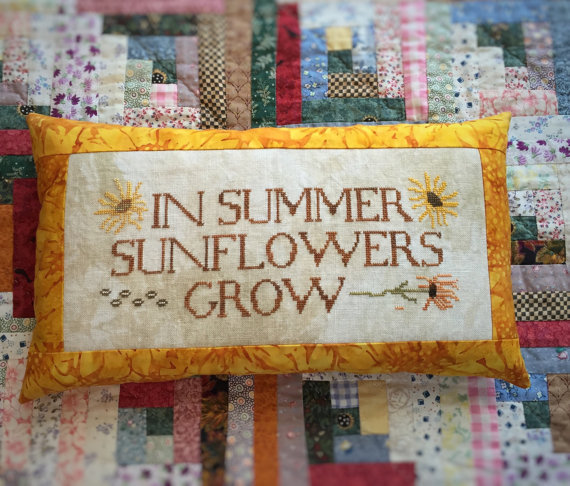 Primary image for Sunflowers Grow cross stitch chart Death by Thread