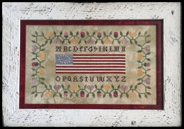Colonial Flag Sampler cross stitch chart Death ... - $10.80