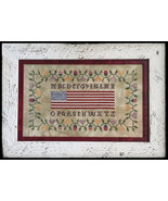 Colonial Flag Sampler cross stitch chart Death by Thread  - $10.80