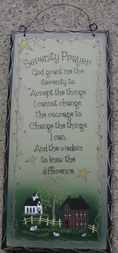 Primary image for  2476SPG-Serenity Prayer Primitive Wood Sign