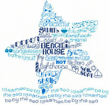 Let's Live By The Sea cross stitch chart Imagin... - $5.40