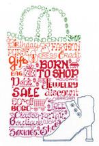 Let's Shop Til We Drop cross stitch chart Imaginating - $5.40