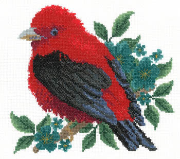 Primary image for Scarlet Tanager cross stitch chart Imaginating