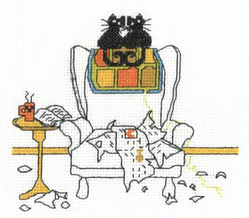 Primary image for Play Pals cat cross stitch chart Imaginating