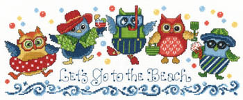 Primary image for Beach Owls cross stitch chart Imaginating