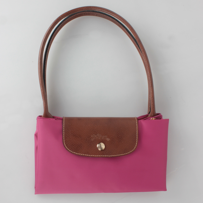 France Made Longchamp Le Pliage Large Nylon Tote Bag Fuchsia 1899089455 Auth ccbc64e296f5d