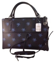 Coach Star Canyon Large Borough Leather Blue C... - $261.45