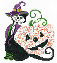Halloween Kit Kat cross stitch chart Imaginating - $5.40