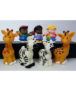 Fisher Price Little People Michael, Sophie, Eddie, Petting Zoo Zebras & Giraffes - $11.00