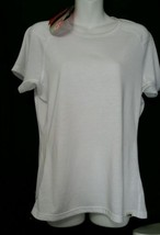 North Face Women's Ruckus Angel Crew Top White Large L UPF Short Sleeves - $18.68