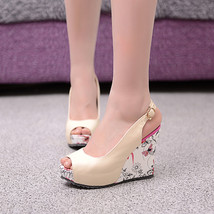 ps263 sweet & beautiful wedge sandals,size 34-39, nude - $78.80