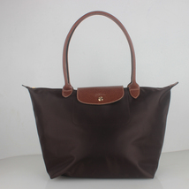 France Made Longchamp Le Pliage Large Nylon Tote Bag Coffee 1899089203 A... - $75.00