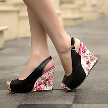 ps263 sweet & beautiful wedge sandals,size 34-39, black - $78.80