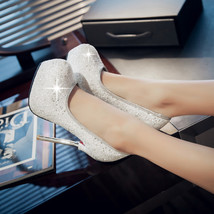ps264 elegant bling bling stiletto pumps, size 33-40, white - $68.80