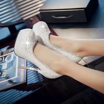 ps264 elegant bling bling stiletto pumps, size 33-40, white - $68.80