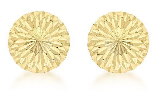 Primary image for 14K Gold Stud Screw Back Diamond Cut Ball Earrings for all ages ON SALE