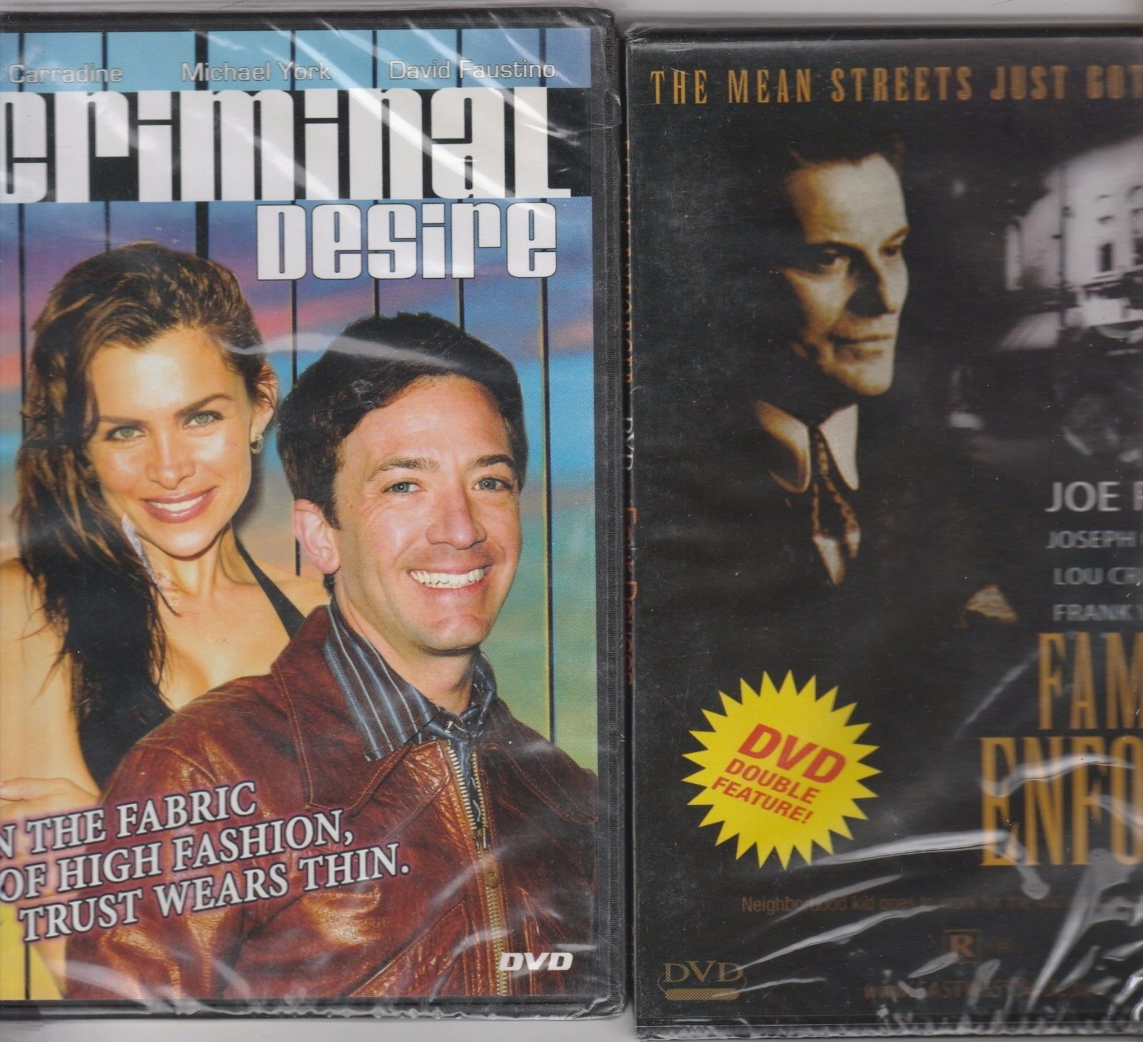 Primary image for Double Feature Family Enforcer and Four Deuces -plus Criminal Desire-2 DVDs NEW