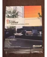 Microsoft Office Professional Edition 2003 - Sealed Retail Box, Full