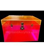 Pink Fluorescent Trunk / Orange Fluorescent Lid... - $420.75