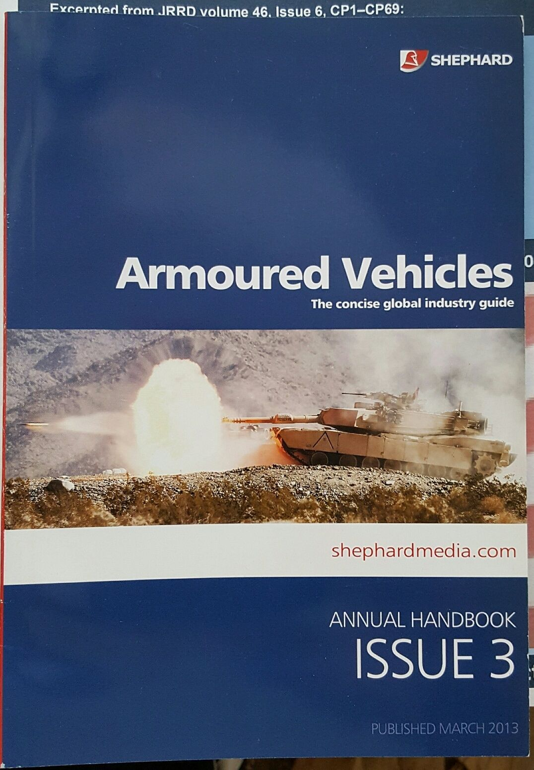 Primary image for Armoured Vehicles Annual Handbook Issue 3 Shephard - The Concise Global Industri