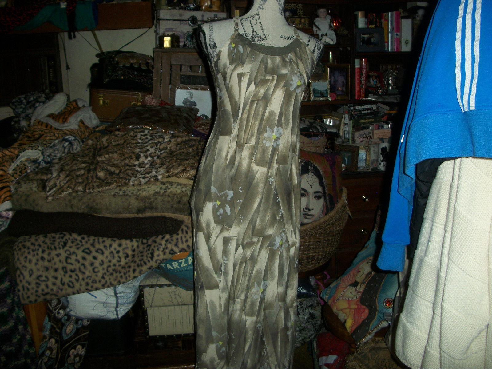 Primary image for AMENOS CUARTO Sexy Camel Floral Maxi Dress Size 40-S