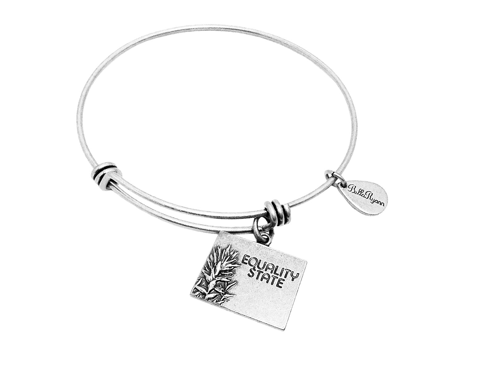 State of Wyoming Charm Bangle Bracelet