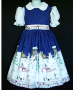 NEW Handmade Daisy Kingdom Peppermint Hills Christmas Border Dress Custo... - $59.98