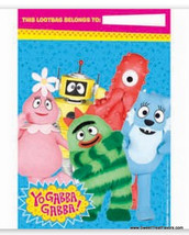 YO GABBA GABBA Party Supplies BAGS Loots Birthday Decoration x8 Favor Mu... - $5.89