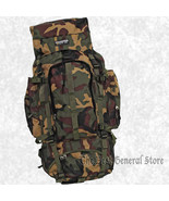 Large Green Camo Water Repellent Mountaineers Backpack Hunting Camping H... - $47.99