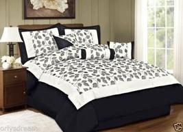 KING size Bed in a Bag 7 pcs Luxurious Comforter Bedding Ensemble Set Leaf - ... - $89.05