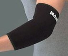 """Mueller Elbow Support Elastic Knit, Contoured, Lightweight, Black - Small 7-10"""" image 3"""