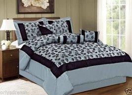 QUEEN size Bed in a Bag 7 pcs Luxurious Comforter Bedding Ensemble Set Leaf -... - $79.15