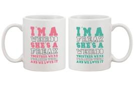 Cute Coffee Mugs for Best Friends - Together We're Freaking Weird - BFF Mug - €21,97 EUR