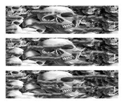 Available now! Halloween Skulls ~ Edible Cake Image Topper ~ 1/4 Sheet Design... - $9.99