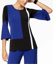 Alfani Colorblocked Bell-Sleeve Top Andromeda M - $39.00