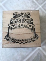 Rubber Stamp Birthday / Wedding Cake S-BD Fun Stamps Vintage 1989 - $14.01