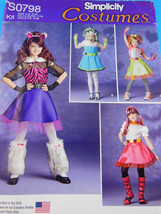 SIMPLICITY Pattern 0798 child Cat, monster more Costumes 7-14 UNCUT fact... - $4.20