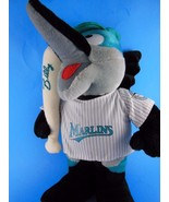 "Rare Florida  Miami Marlins Billie Marlin Plush 13"" w Bat & Cap Steven S... - $15.14"